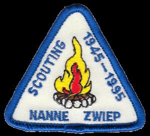Jubileumbadge 50 jaar Scouting Nanne Zwiep