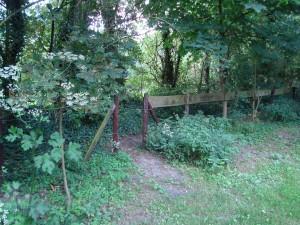 Poortje achterpad naar vijver